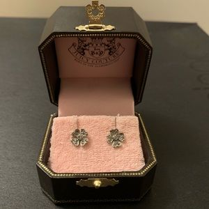 Juicy Couture Clover Silver Earrings